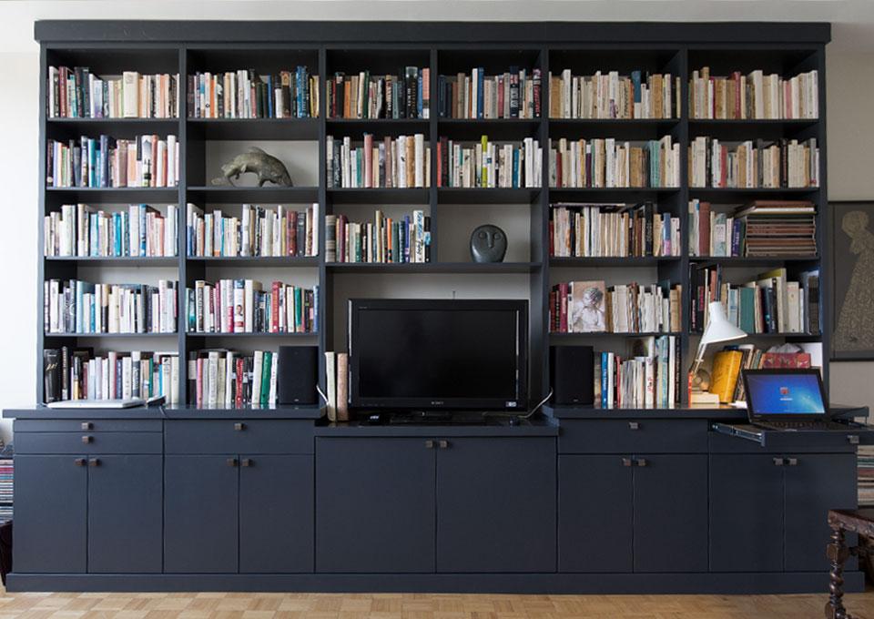 Bibliothèque intégrée de style moderne  Cuisines Multiplex